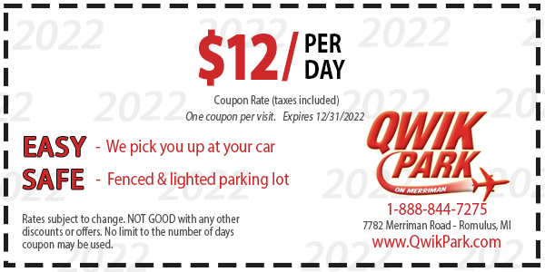 qwik park detroit coupon one day free